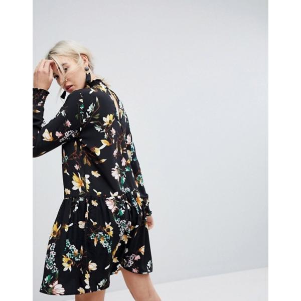 ヴィラ レディース ワンピース トップス Vila Floral Printed High Neck Shift Dress