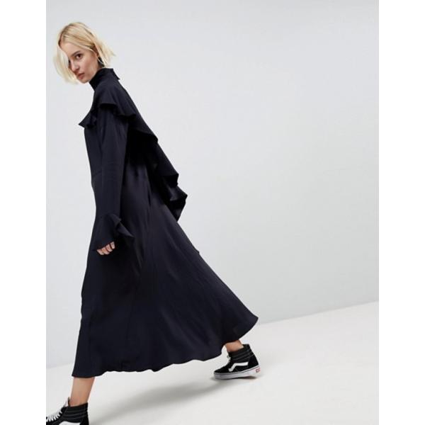 エイソス レディース ワンピース トップス ASOS WHITE Waterfall Frill Midi Dress