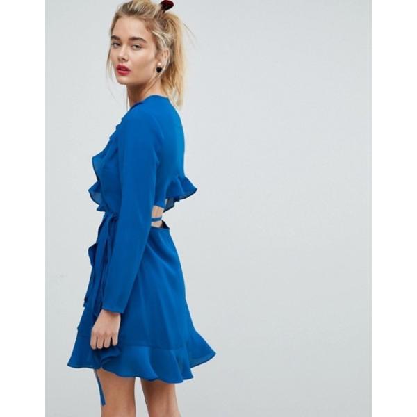 エイソス レディース ワンピース トップス ASOS Ruffle Wrap Mini Dress