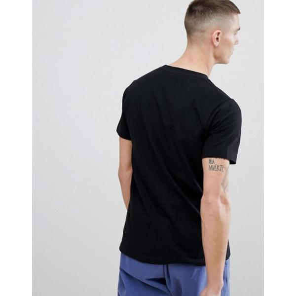 ヌーディージーンズ メンズ Tシャツ トップス Nudie Jeans Co Kurt Worker T-Shirt Black|revida|02