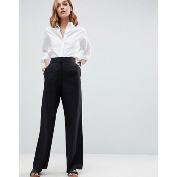 エイソス レディース カジュアルパンツ ボトムス ASOS Tailored Clean Linen Wide Leg Pants