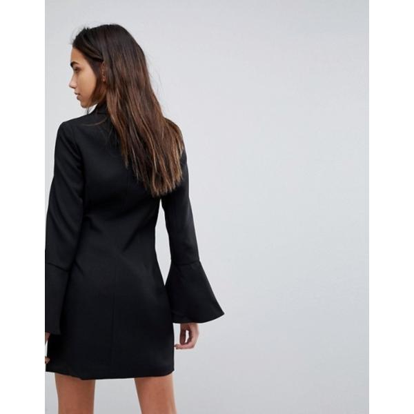 ミスガイデッド レディース ワンピース トップス Missguided Bell Sleeve Blazer Dress