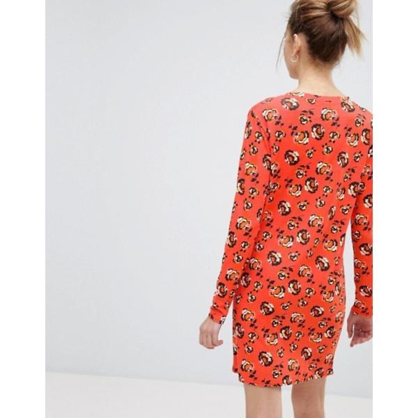 デイジーストリート レディース ワンピース トップス Daisy Street Long Sleeve Dress In Floral Print