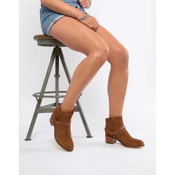 エイチ バイ ハドソン レディース ブーツ・レインブーツ シューズ H By Hudson Leather Ankle Boots