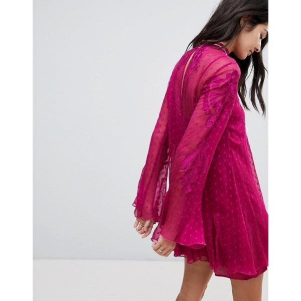 フリーピープル レディース ワンピース トップス Free People Cocquet Sheer Mini Dress