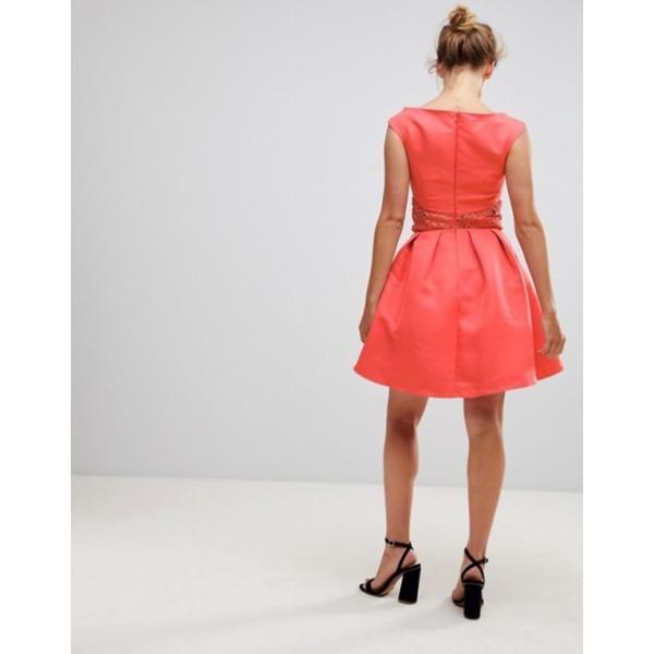 リトルミストレス レディース ワンピース トップス Little Mistess Fit & Flare Dress With Lace Waist