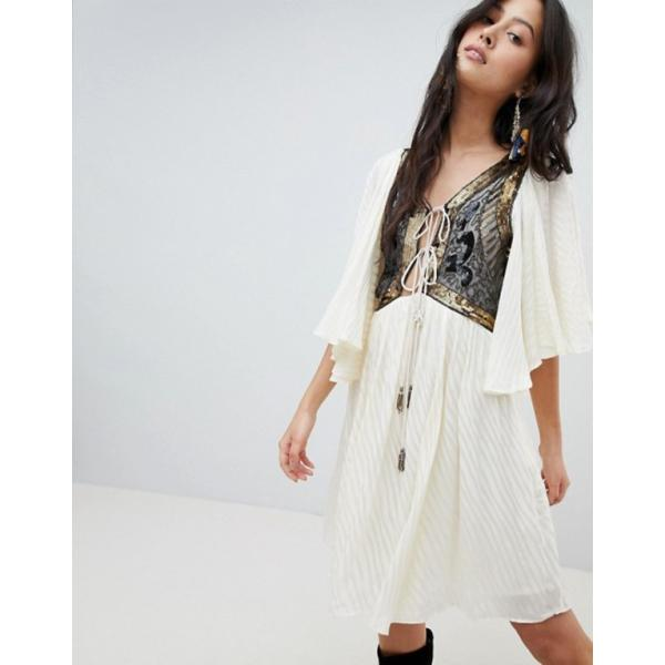 フリーピープル レディース ワンピース トップス Free People Moonglow Embellished Mini Dress