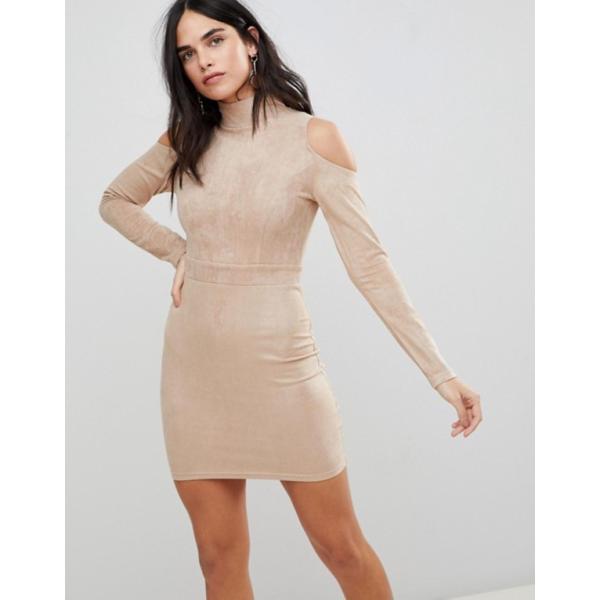 アックスパリ レディース ワンピース トップス AX Paris Cold Shoulder Long Sleeve Bodycon Dress