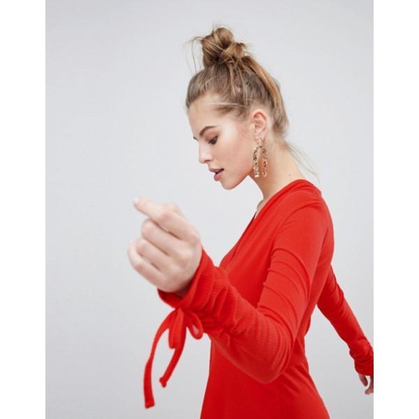 ブーフー レディース ワンピース トップス Boohoo Wrap Skater Dress