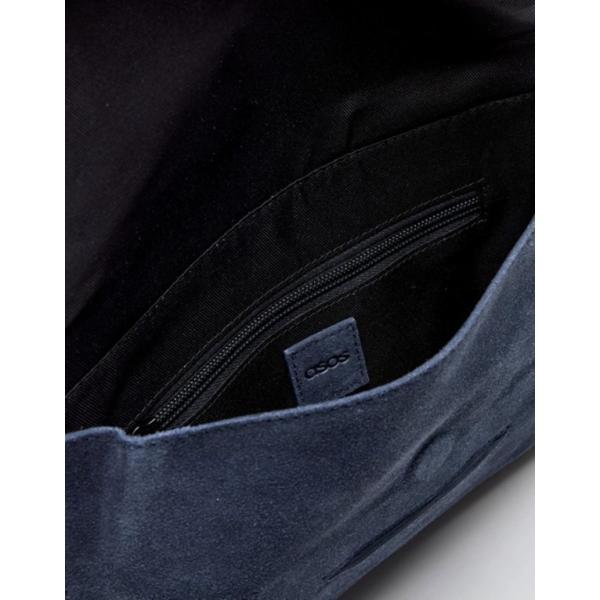 エイソス レディース クラッチバッグ バッグ ASOS DESIGN suede tuck front clutch bag