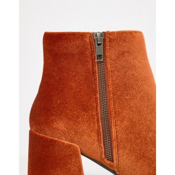 エイソス レディース ブーツ・レインブーツ シューズ ASOS DESIGN Rural velvet ankle boots