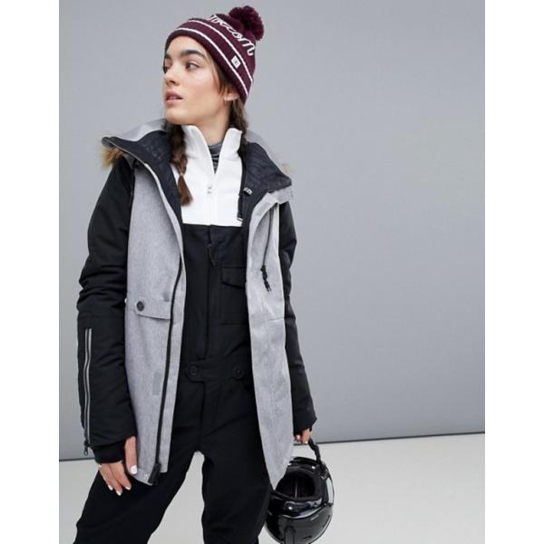 ボルコム レディース ジャケット・ブルゾン アウター Volcom Fawn insulated ski jacket in gray|revida
