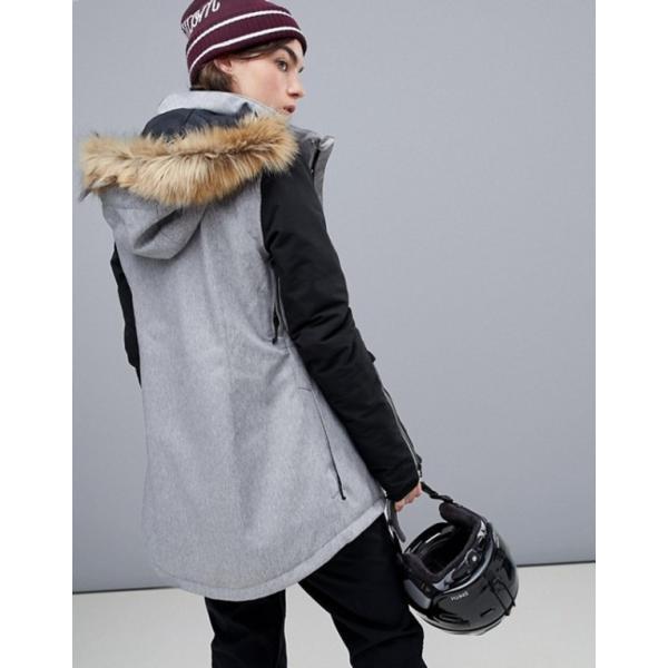 ボルコム レディース ジャケット・ブルゾン アウター Volcom Fawn insulated ski jacket in gray|revida|02