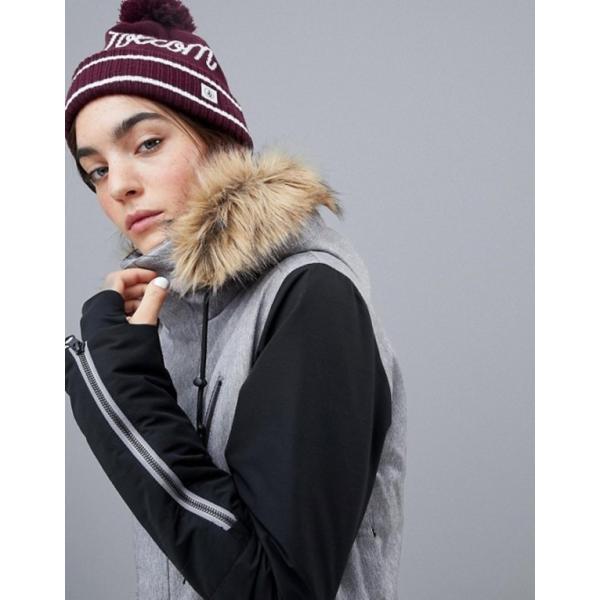 ボルコム レディース ジャケット・ブルゾン アウター Volcom Fawn insulated ski jacket in gray|revida|03