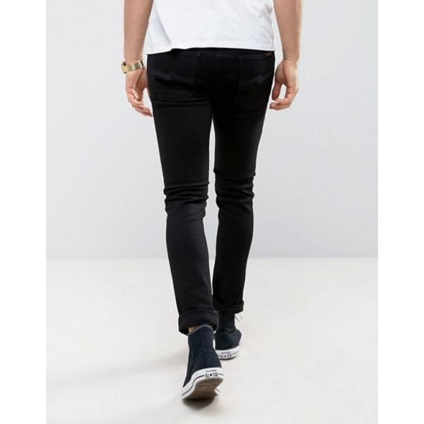 ヌーディージーンズ メンズ デニムパンツ ボトムス Nudie Jeans Co Skinny Lin jeans in black|revida|02