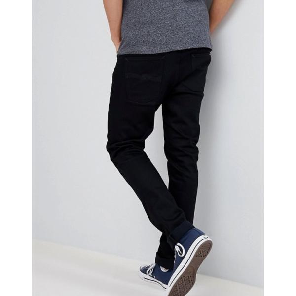 ヌーディージーンズ メンズ デニムパンツ ボトムス Nudie Jeans Co Lean Dean jeans in ever black|revida|02