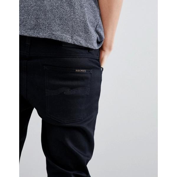 ヌーディージーンズ メンズ デニムパンツ ボトムス Nudie Jeans Co Lean Dean jeans in ever black|revida|03