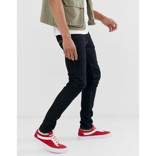 ヌーディージーンズ メンズ デニムパンツ ボトムス Nudie Jeans Co Skinny Lin super skinny jeans in deep orange revida 02