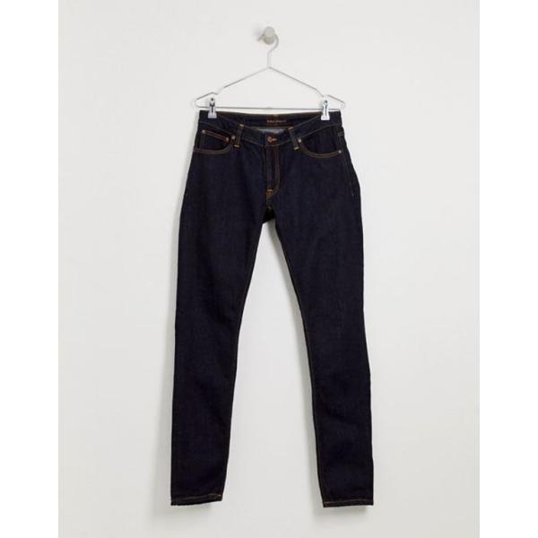 ヌーディージーンズ メンズ デニムパンツ ボトムス Nudie Jeans Co Skinny Lin super skinny jeans in deep orange revida 03