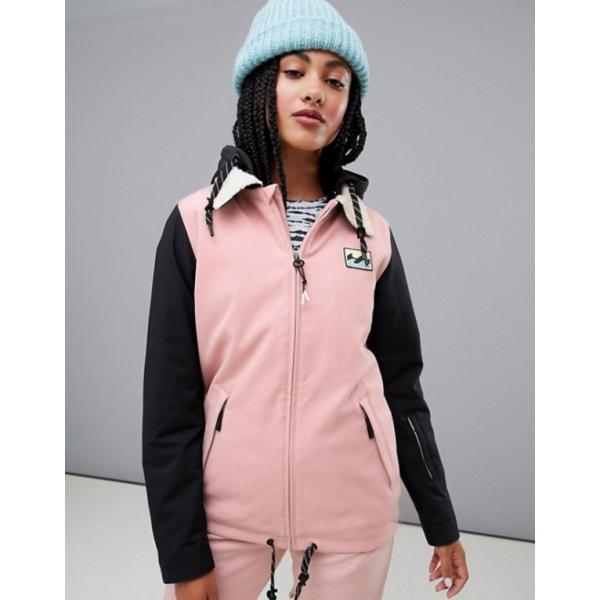ビラボン レディース ジャケット・ブルゾン アウター Billabong Coastal ski jacket in pink|revida