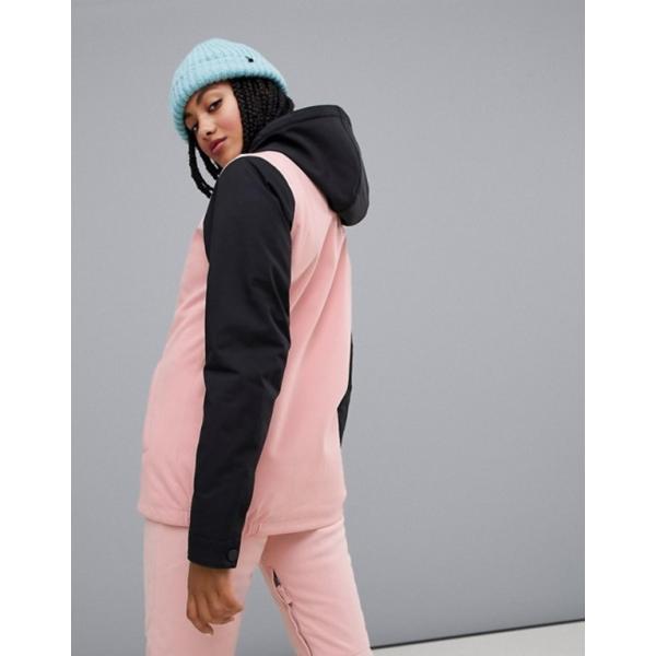 ビラボン レディース ジャケット・ブルゾン アウター Billabong Coastal ski jacket in pink|revida|02