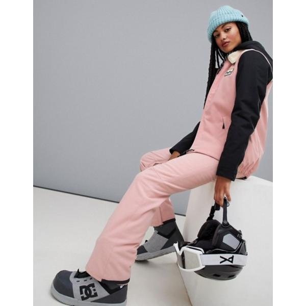 ビラボン レディース ジャケット・ブルゾン アウター Billabong Coastal ski jacket in pink|revida|04