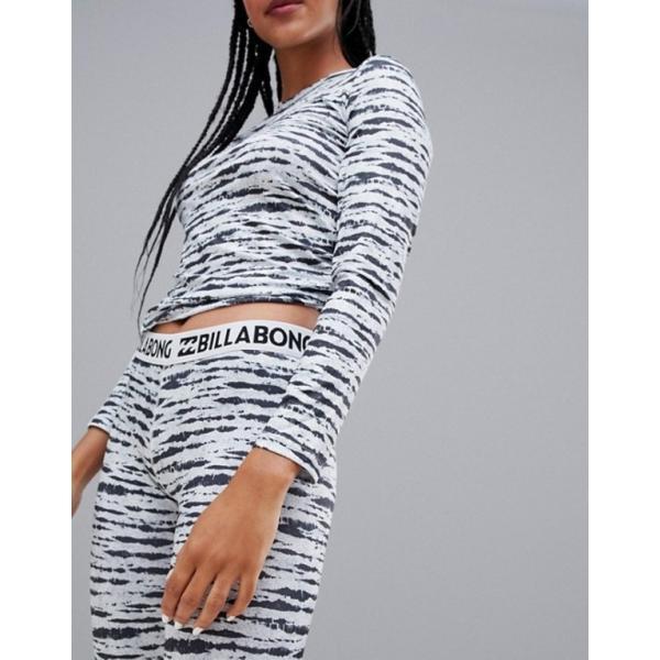 ビラボン レディース レギンス ボトムス Billabong Warm Up base layer tech leggings in black/white|revida|03