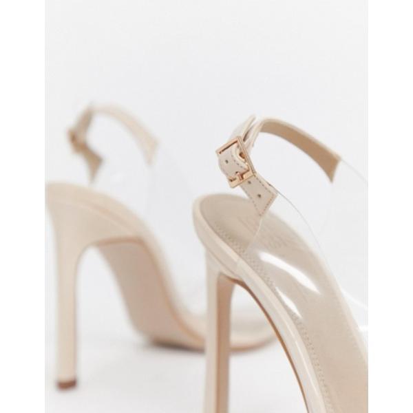 エイソス レディース ヒール シューズ ASOS DESIGN Pilot clear slingback high heels