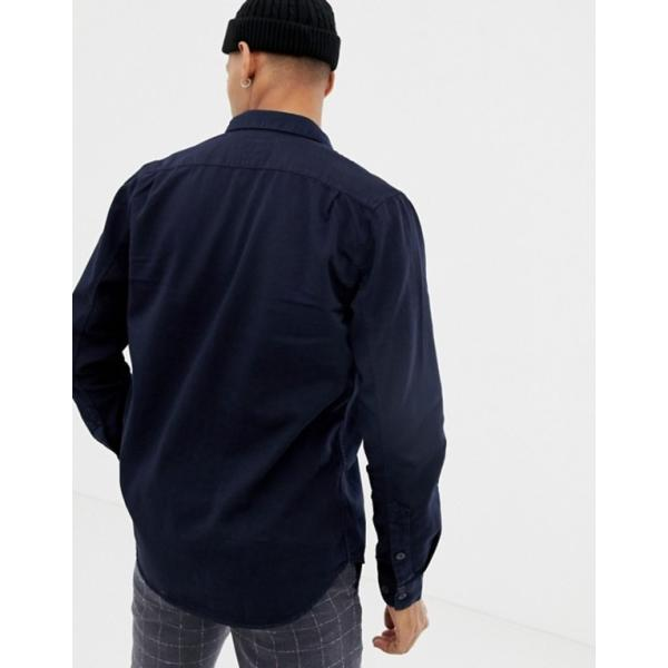 ヌーディージーンズ メンズ シャツ トップス Nudie Jeans Co Henry button down shirt in navy|revida|02