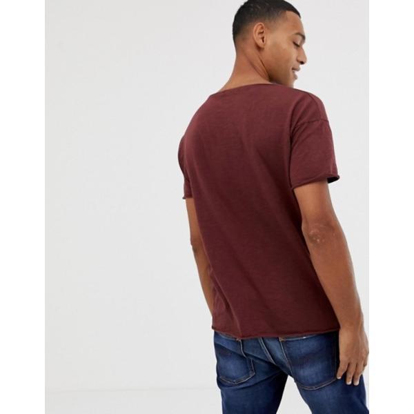 ヌーディージーンズ メンズ Tシャツ トップス Nudie Jeans Co Roger slub t-shirt in plum|revida|02