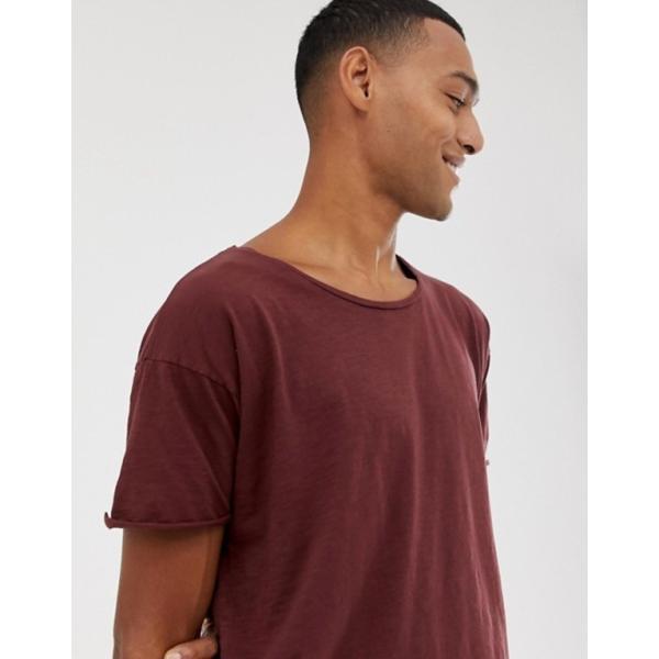 ヌーディージーンズ メンズ Tシャツ トップス Nudie Jeans Co Roger slub t-shirt in plum|revida|03