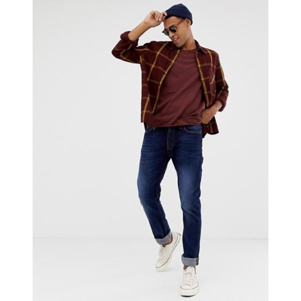 ヌーディージーンズ メンズ Tシャツ トップス Nudie Jeans Co Roger slub t-shirt in plum|revida|04