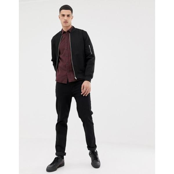 ヌーディージーンズ メンズ シャツ トップス Nudie Jeans Co Henry button down shirt in plum|revida|04