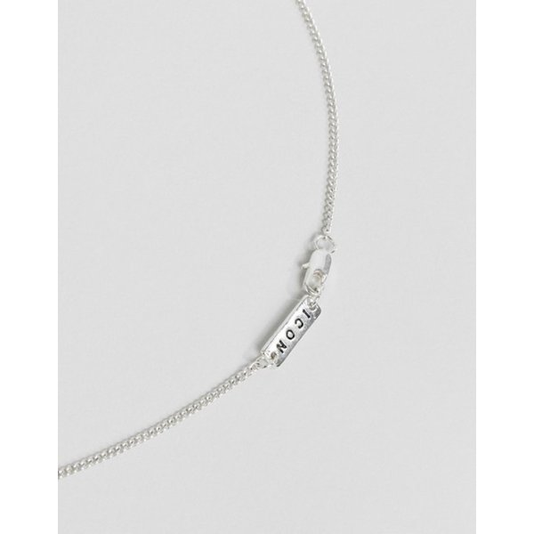 アイコンブランド メンズ ネックレス・チョーカー アクセサリー Icon Brand cross necklace in silver