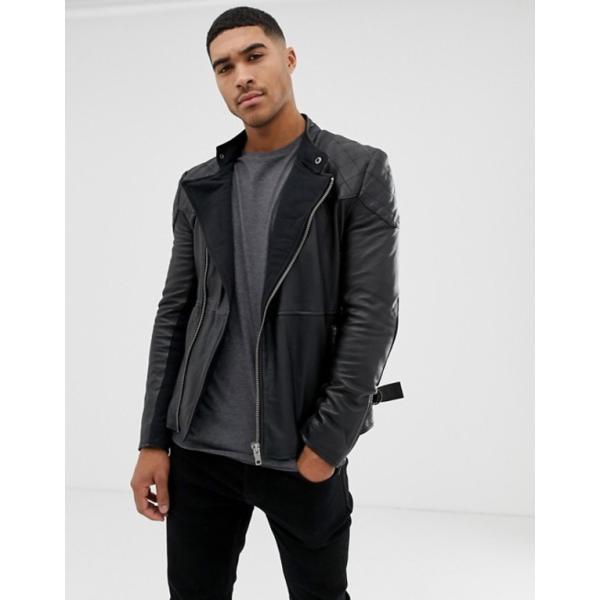 ボロンガロトレバー メンズ ジャケット・ブルゾン アウター Bolongaro Trevor quilted leather biker jacket|revida