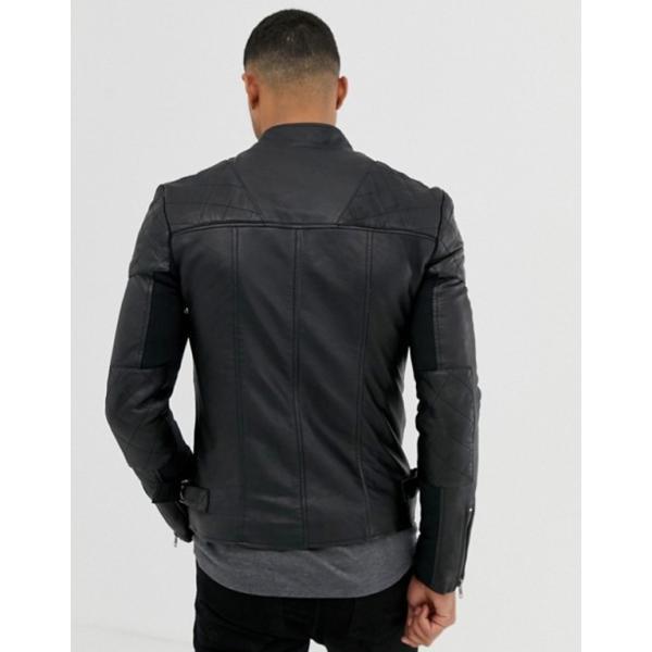 ボロンガロトレバー メンズ ジャケット・ブルゾン アウター Bolongaro Trevor quilted leather biker jacket|revida|02