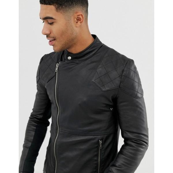 ボロンガロトレバー メンズ ジャケット・ブルゾン アウター Bolongaro Trevor quilted leather biker jacket|revida|03