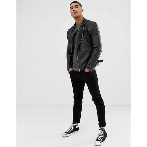 ボロンガロトレバー メンズ ジャケット・ブルゾン アウター Bolongaro Trevor quilted leather biker jacket|revida|04