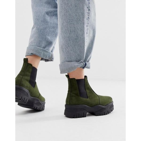 エイソス レディース ブーツ・レインブーツ シューズ ASOS DESIGN Alvera chunky chelsea boots