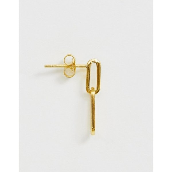 エイソス レディース ピアス・イヤリング アクセサリー ASOS DESIGN sterling silver earrings in open chain link design