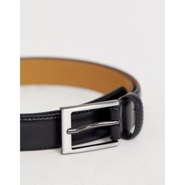 オリジナルペンギン メンズ ベルト アクセサリー Original Penguin smart leather belt in black|revida|02
