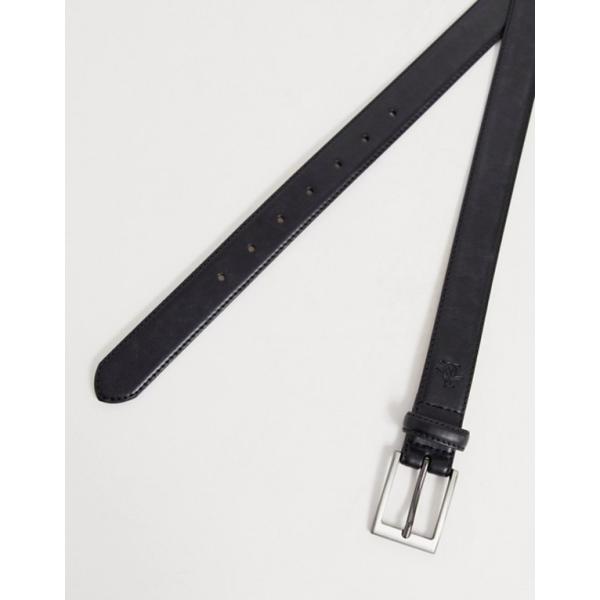 オリジナルペンギン メンズ ベルト アクセサリー Original Penguin smart leather belt in black|revida|04