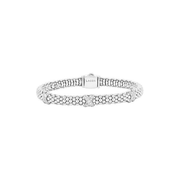 ラゴス レディース ブレスレット・バングル・アンクレット アクセサリー LAGOS 'Signature Caviar' Diamond Rope Bracelet