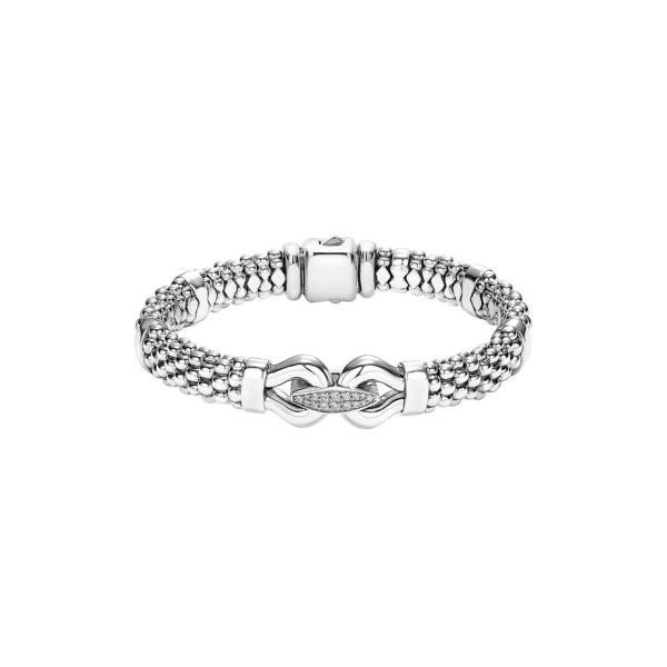 ラゴス レディース ブレスレット・バングル・アンクレット アクセサリー LAGOS 'Derby' Diamond Buckle Rope Bracelet