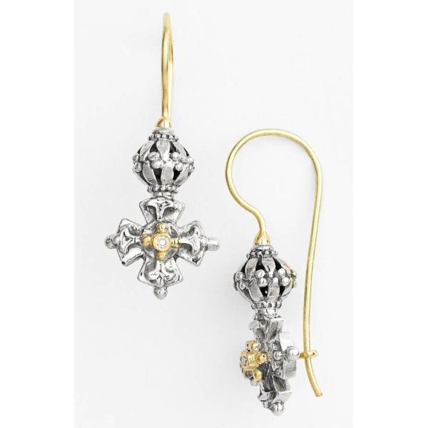 コンスタンティーノ レディース ピアス・イヤリング アクセサリー Konstantino 'Classics' Diamond Maltese Cross Drop Earrings