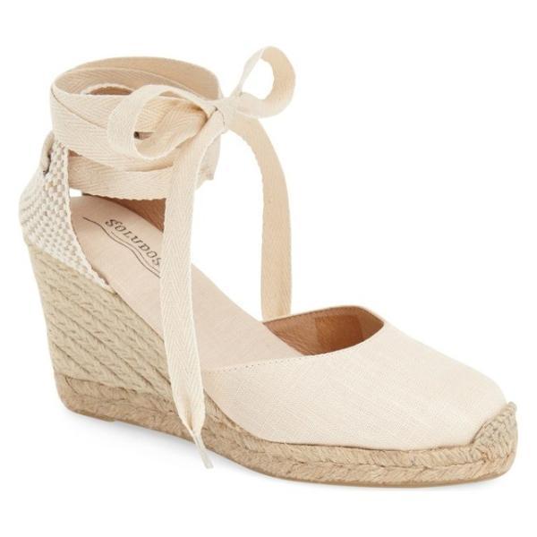 ソルドス レディース サンダル シューズ Soludos Wedge Lace-Up Espadrille Sandal (Women)