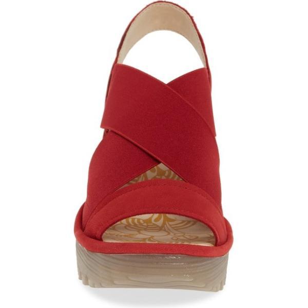 フライロンドン レディース サンダル シューズ Fly London Yaji Cross Wedge Sandal (Women)