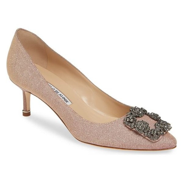Manolo Blahnik レディース パンプス シューズ Manolo Blahnik Hangisi Crystal Embellished Pump (Women)