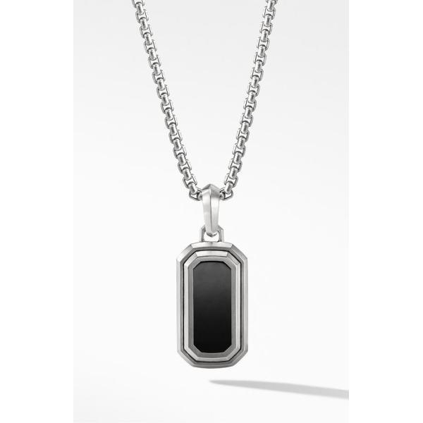 デイビット・ユーマン メンズ ネックレス・チョーカー アクセサリー David Yurman Deco Amulet with Black Onyx