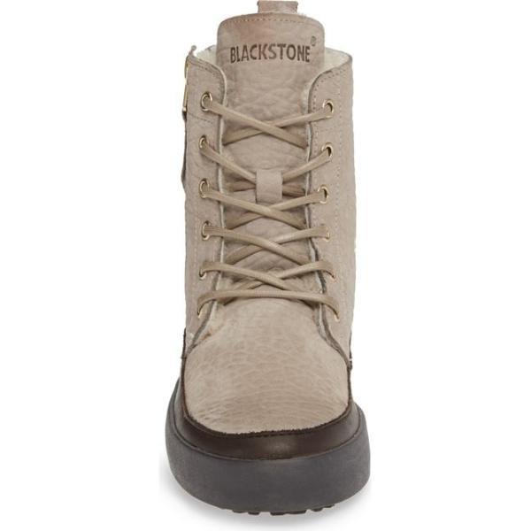 ブラックストーン レディース スニーカー シューズ Blackstone QL43 High Top Sneaker with Genuine Shearling Lining
